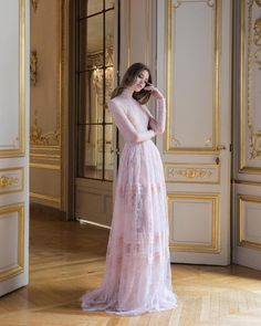 """Paolo Sebastian """"Reverie • PSAW1807 Chantilly lace gown with frayed panel detailing #AW1718 #Couture #PaoloSebastian…"""""""