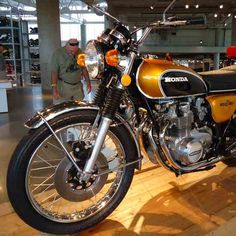 A 1974 Honda CB500 on display with other classic motorcycles at the Barber Vintage Motorsports Museum in Leeds, Alabama.