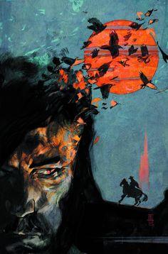"""Dark Tower """"Man In Black"""" Marvel comic cover."""