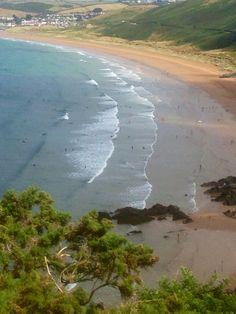 Putsborough Beach from Baggy Point, North Devon