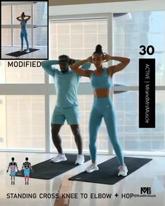 Fitness Workouts, Fitness Herausforderungen, Full Body Hiit Workout, Gym Workout Videos, Fitness Workout For Women, Sport Fitness, At Home Workouts, But Workouts, Weight Loss Workout