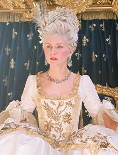 Marie Antoinette; a strong woman with big hair and jewelry: Grandmother's inspiration