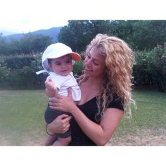 "Shakira shared the look of love with her baby boy while visiting ""the tranquil French countryside"" in this photo that she posted on Instagram on Aug. 16, 2013."