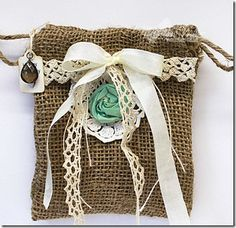 cutest burlap bag to hold gift card {blog is invite only so, no instructions...}