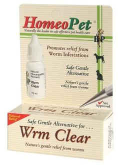 """Brand New HOMEOPET LLC - WORM CLEAR (15 ML) """"DOG PRODUCTS - DOG HEALTH - MEDICATIONS"""" - http://www.thepuppy.org/brand-new-homeopet-llc-worm-clear-15-ml-dog-products-dog-health-medications/"""