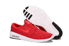 Nike Men SB Stefan Janoski Max Red White Shoes