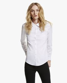 The Kooples Maintenance The Kooples, White Button Down, Work Wear, Button Downs, Buttons, Clothes For Women, Fitness, Shopping, School