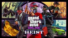 Rockstar has announced a new heist for GTA online, this time featuring The Diamond Casino and Resort. The Diamond Casino Heist will be a co. Gta Online, Netflix Online, Online Cash, Grand Theft Auto, Microsoft Windows, Xbox 360, Red Dead Redemption, San Andreas, Walt Disney Company
