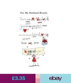 Cards & Stationery Funny Joke Birthday Anniversary A5 Card Personalised Boyfriend Husband Fiancé 50 #ebay #Home & Garden