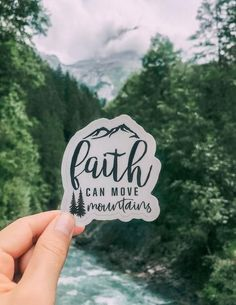 Let this sticker be a reminder to have faith in God and know that faith alone can move mountains in your life. Shop more of our Christian stickers and Christian gifts at Elevated Faith today! Christian Charities, Christian Organizations, Walk By Faith, Faith In God, Jesus Faith, Have Faith, God Jesus, Bible Verses Quotes, Faith Quotes