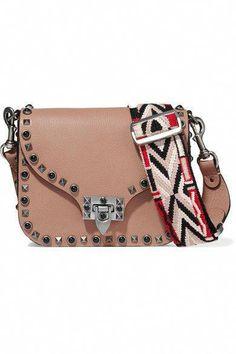 968cd6a24 VALENTINO Guitar Rockstud Rolling embellished textured-leather shoulder  bag. #valentino #bags #
