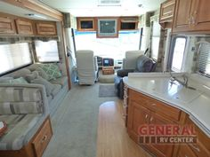 Enjoy The Rear Bedroom With Desk And Rear Window In The Used 2006 Holiday Rambler Vacationer 37PCT Motor Home Class A at General RV   Draper, UT   #143844