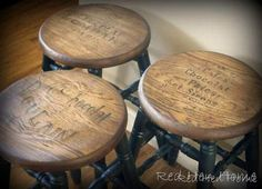 DIY vintage french stools