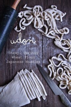 From Scratch: Fresh Udon Noodles Made With Your Feet! Udon noodles from scratch {easy and so chewy!}Udon noodles from scratch {easy and so chewy! Japanese Noodles, Japanese Udon, Udon Noodles, Egg Noodles, Gula, Japanese Dishes, Le Diner, Homemade Pasta, Asian Cooking