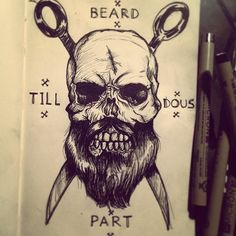 Skull Beard Tattoos | www.tattooizer.com - The best Tattoo designs & Tattoo ideas!
