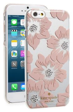 Free shipping and returns on kate spade new york 'hollyhock' iPhone 6 & 6s case at Nordstrom.com. A charming floral pattern with gleaming studs adds eye-catching sophistication to a hard-shell case that keeps your iPhone chic and scratch-free.