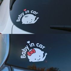 Baby In Car Baby on Board Safety Sign Car Decal Sticker Silver White Boy Girl #NoBrand