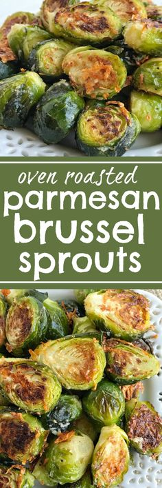 Oven roasted parmesan Brussel sprouts are a quick & easy 20 minute side dish that is healthy and delicious. Only a few simple ingredients to the best Brussel sprouts recipe that are bursting with flavor! www.togetherasfamily.com