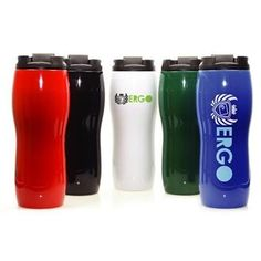 Sharpely and comfortable to hold this 16 oz. double walled tumbler is biodegradable. Features screw on top with spill resistant flip up to open lid.