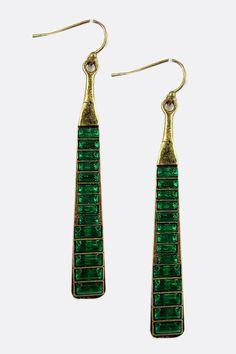 Emerald Sima Crystal Earrings