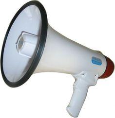 Megafon groß mit Mikrofon