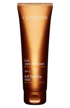 Free shipping and returns on Clarins Self Tanning Milk SPF 6 at Nordstrom.com. Clarins Self Tanning milk with SPF 6 has a gentle, long-lasting formula that gives you a streak-free golden tan in a few short hours without having to expose your skin to UV rays. As a little extra bonus if you do go outside, the tanner boasts SPF 6 so you can add an extra level of intensity to your tan while protecting your skin against the immediate and long-term effects of the sun.