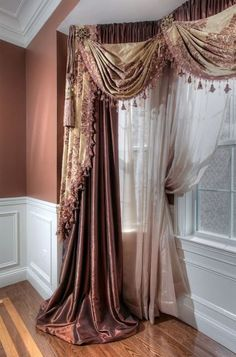 Learn the art of dressing windows, not simply covering them. Brought to you by Curtains and Drapes Los Angeles and Galaxy Design. Corner Window Treatments, Interior, Custom Window Treatments, Window Styles, Drapes Curtains, Curtains, Curtain Styles, Window Drapes, Curtain Designs