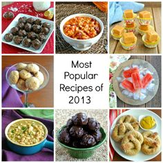 Most Popular Recipes 2013 - Celebrating the top eight recipes of the year from Vegan In The Freezer.  There is an eclectic mix of soups through sweets.
