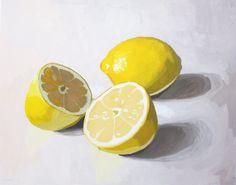 Lemon Still-Life Art Print #etsy #kitchen