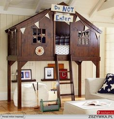 Zobacz zdjęcie Piętrowe łóżka to rozwiązanie do małego pomieszczenia, ale nie tylko. Dzieci ... w pełnej rozdzielczości
