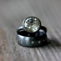 rings, rutilated quartz ~ onegarnetgirl