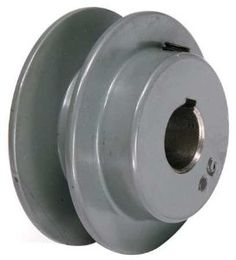 TB WOOD'S AK2558 V-Belt Pulley,2.55 In OD,5/8 Bore,1GRV by TB WOOD'S. $5.45. V-Belt Pulley, Fixed Bore, Bore Dia. 5/8 In., Fits Shaft Dia. 5/8 In., Outside Dia. 2.55 In., 1 Groove, Web Construction, 3L Belt Pitch Dia. 1.96 In., 4L, A, or AX Belt Pitch Dia. 2.3 In., Pitch Dependant on Belt Selection, 3/16 x 3/32 In. Keyway, Standard Setscrew, Gray Color, Iron Material, For Use With 3L, 4L, A or AX Type V-belts