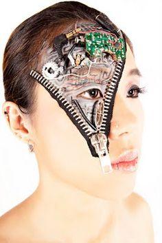my makeupbox is a bomb!: Creative makeup: Robot