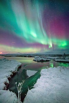 The Colors Of Aurora, Thingvellir National park, Iceland, by Friðþjófur M, on flickr.
