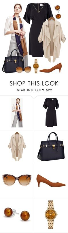"""Navy for work #2"" by ninetofiveglamorous ❤ liked on Polyvore featuring Ann Taylor, Closet, Dolce&Gabbana, MANGO, Bling Jewelry, Michael Kors and Gorjana"