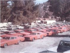 Who didn& like the Dukes of Hazzard? Boss Hoggs, Luke, etc. Cars were at a premium. General Lee Car, Junkyard Cars, Dukes Of Hazard, Dodge Muscle Cars, Chrysler Cars, Abandoned Cars, Mopar, Dream Cars, Cool Pictures