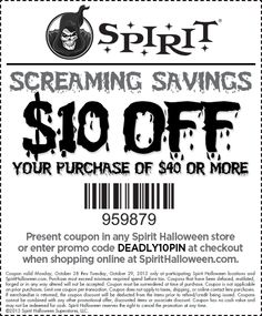 use spirit halloween coupon codes for october 2017 and save up to 50offers exceptional spirit halloween superstore coupons and spirit halloween store