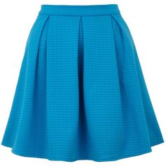 Yumi Textured skater skirt (34 CAD) ❤ liked on Polyvore featuring skirts, bottoms, saias, faldas, blue, clearance, textured skirt, a line flared skirt, knee length a line skirt and knee length skater skirt