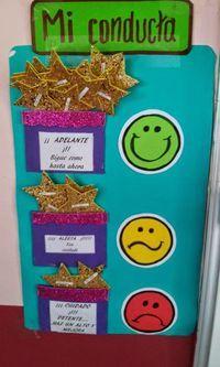 TIPS DE ACTIVIDADES PARA TU GRUPO ESCOLAR: Control de Conducta Grupal gráfico Classroom Rules, Classroom Organization, Classroom Decor, Class Decoration, School Decorations, English Activities, Preschool Activities, Art For Kids, Crafts For Kids