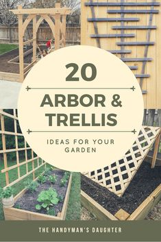 Looking for arbor or trellis ideas for your garden? Here are 20 amazing options to give your climbing vines the support they need to grow and thrive. These easy DIY trellis and arbor projects can have your garden looking amazing in no time! #trellis #arbor #garden #gardening #vines via @handymansdaught