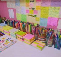 Study Room Decor, Study Rooms, School Stationery, Cute Stationery, Stationary Store, Study Organization, Study Planner, Cute School Supplies, Study Inspiration