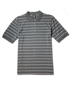 Buy Men's Short Sleeve Striped Pique Polo Shirt - Charcoal/White (Narrow Stripes) - Shop the latest collection of Men's Shirts from the most popular stores. Polo Shirts With Pockets, Polo T Shirts, Short Sleeve Polo Shirts, Men Shirts, Mens Clothing Sale, Men's Clothing, Mens Back, Pique Polo Shirt, Printed Shirts