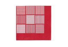 Rosendahl - Papierservietten, 20 Stck., rot/weiß, 40x40 cm #rosendahl