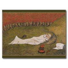 Hugo Simberg Tomtekungen sover CC0428 Postcard