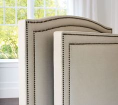 Tamsen Square Upholstered Bed & Headboard | Pottery Barn