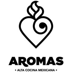 Aromas is a restaurant that specializes in mexican gourmet cuisine. They needed to revitalize their brand and part of the strategy was for them to generate a new logo.The restaurant is small and very intimate and with a really minimalistic approach to t… Logo Mexicano, Mexican Names, Cake Logo, Mexican Designs, Logo Design, Graphic Design, Visual Identity, Tribal Tattoos, Lettering