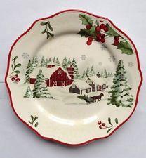 Better Homes & Gardens Christmas Heritage Sleigh Salad Plate * Multiples