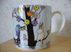 "Muumimuki ""Water mug"" -sarja (vaaleansininen) Yamaka Moomin Mugs, Fuzzy Felt, Tove Jansson, Stop Motion, Finland, Tableware, Creative, Water, Illustration"