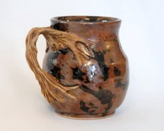 Ceramic Tree  Mug 4 hand carved  faux bois by WOODSTONECeramics, $45.00