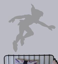 Peter Pan Shadow vinyl decal. I must have this for my own room!